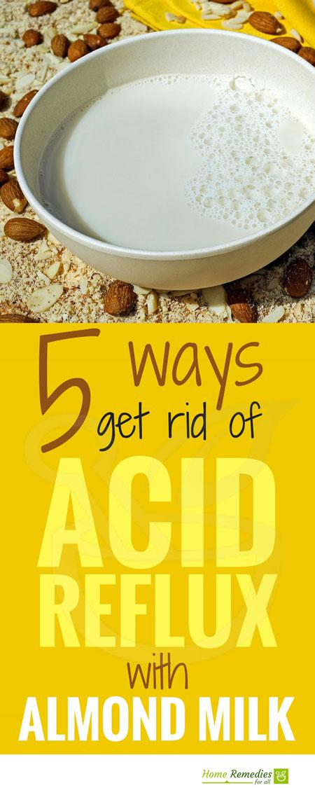 almonds for acid reflux infographic