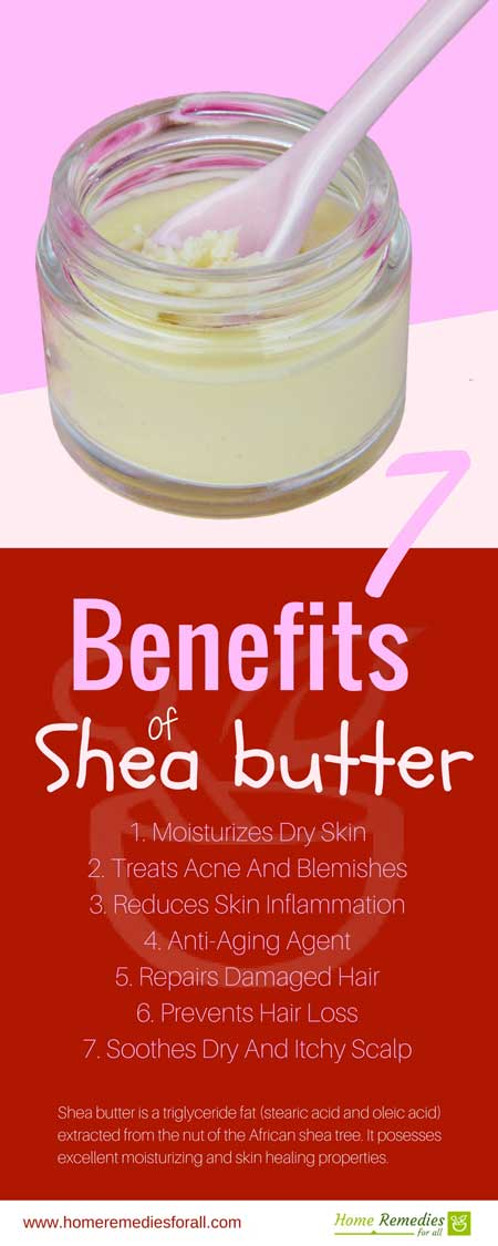 benefits of shea butter infographic
