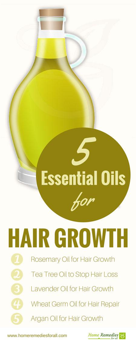 best hair growth oils infographic