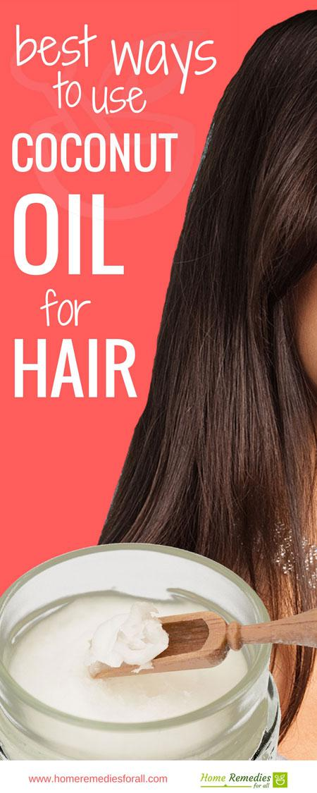 coconut oil for hair infographic