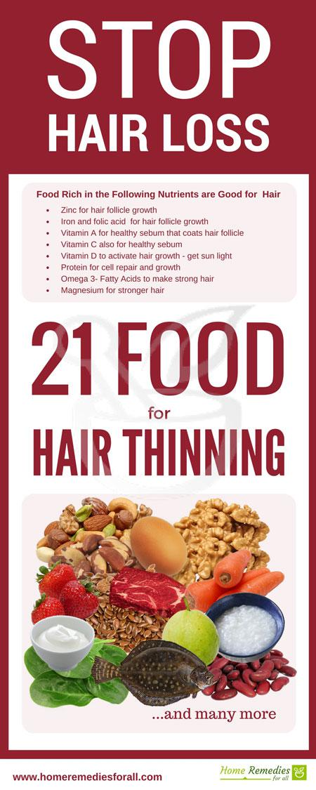 food to stop hair loss infographic
