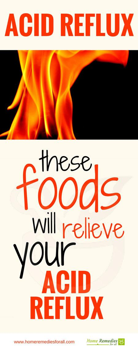 foods for acid reflux infographic