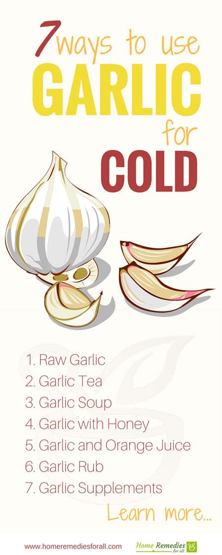 garlic for cold infographic