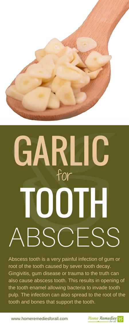 garlic for tooth abscess infographic