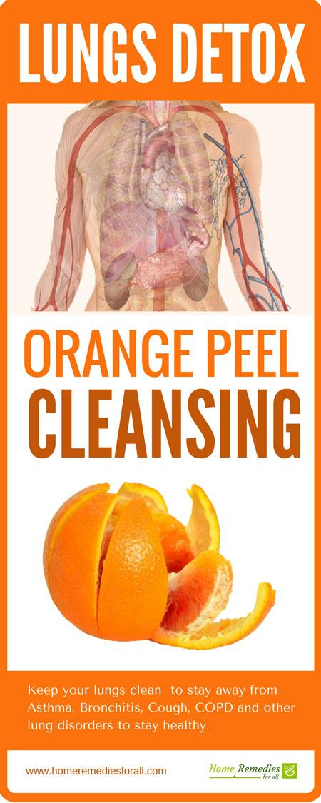 lung detox orange peel infographic