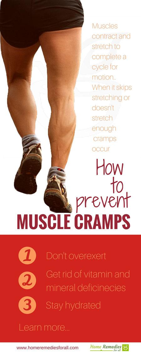 prevent muscle cramps infographic