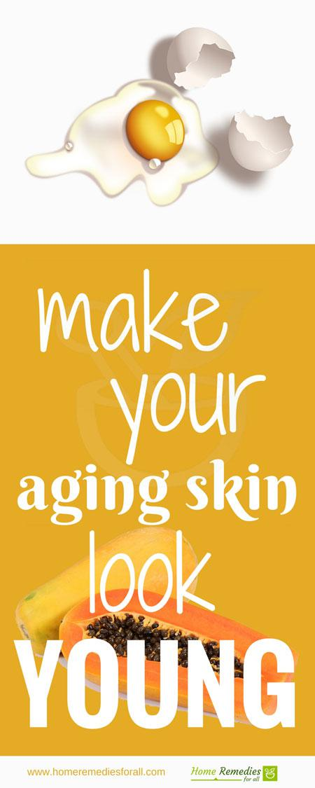 remedies for aging skin infographic