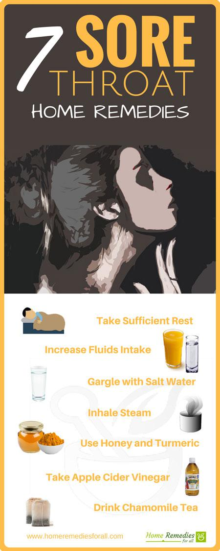 sore throat home remedies infographic