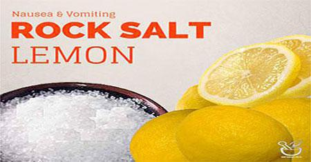 Rock Salt and Lemon to Prevent Vomiting