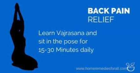 Back pain relief - Sit in Vajrasana
