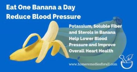 Eat Bananas to Lower Blood Pressure
