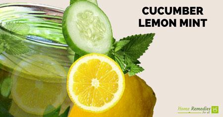 cucumber lemon mint detox