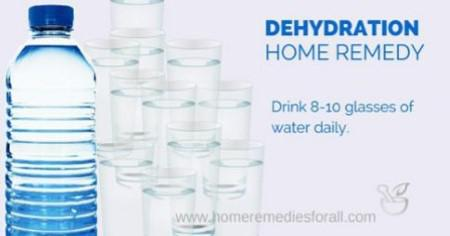 Dehydration Remedies - Drink a lot of Water Daily