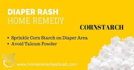 Picture of Home remedies for Diaper Rash Corn Starch