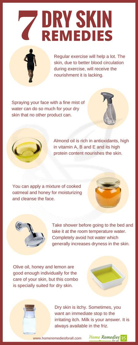 dry skin remedies infographic
