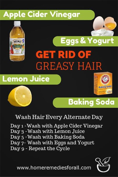 How To Get Rid Of Greasy Hair Naturally