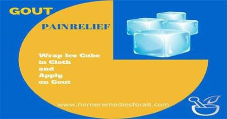 Gout Home Remedies Ice Cubes