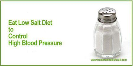 Picture of Home Remedies for High Blood Pressure - Low Salt Diet