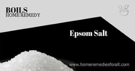 Picture of Home Remedies for Boils Epsom Salt