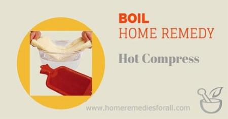 Picture of Home Remedies for Boils Hot Compress