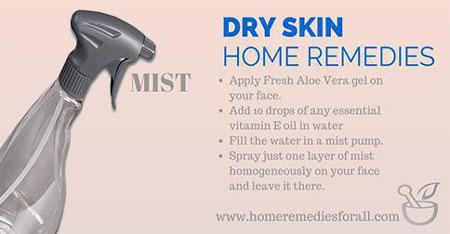 home remedies dry skin mist