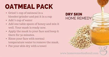 Dry Skin Remedy Oatmeal and Honey