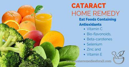 Home Remedies for Cataract - Antioxidents