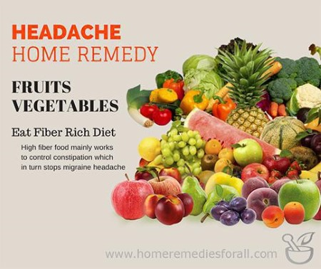 Picture of Home Remedies for Headache Fruits and Vegetables