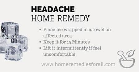 Picture of Home Remedies for Headache Ice