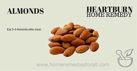 Picture of Home Remedies for Heartburn Almonds