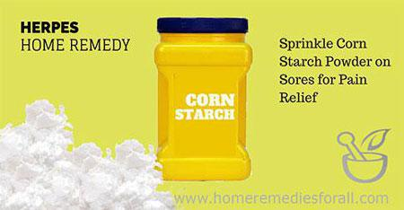 Natural Home Remedies for Herpes Corn Starch