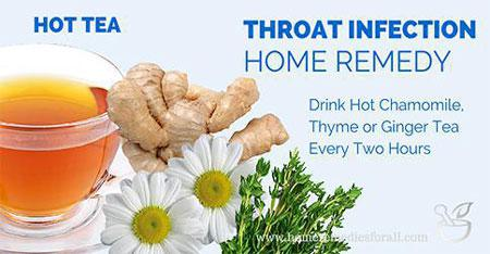 how to clear throat infection