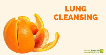 lung cleansing with orange peel