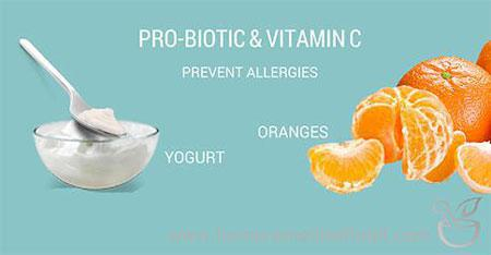 Use Probiotic and Vitamin C to Prevent Allergies