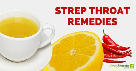 strep throat home remedies