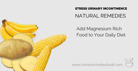 stress urinary incontinence natural remedies - magnesium rich diet