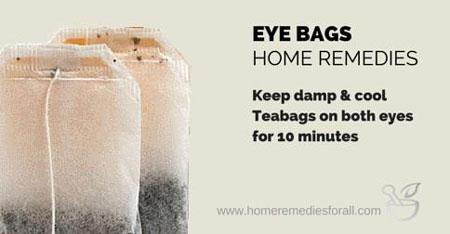 Apply Tea bags to Remove Bags Under the Eyes